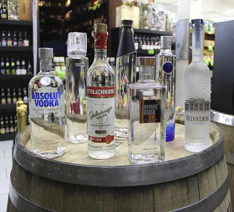 Vodka a legnagyobb márkák képviseletében